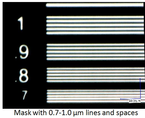 Mask lines and spaces
